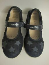 GEOX Girl Respira Breathable Antibacterial Black with Stars Flats 33