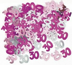 5 x 30th Pink Happy Birthday Party Glitz Table Confetti Sprinkle Decorations 14g