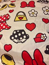 Disney Minnie Mouse girls twin fitted sheet white shoes purse bow dress bedding