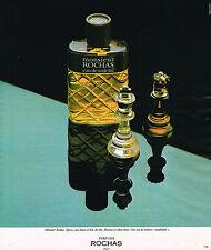 PUBLICITE ADVERTISING 015  1977  ROCHAS  eau de toilette homme MONSIEUR
