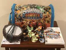Wii Skylanders Giants Bundle Lot - 7 Figurines w/ Carrying Bag & Portal w/ Game