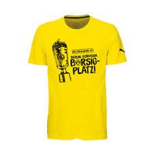 Camisetas de fútbol de manga corta amarillo talla L
