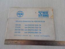 MANUALE USO MANUTENZIONE ORIGINALE DKW SACHS GS 125 175 250 350 CROSS VINTAGE