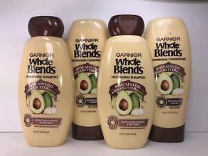 4 Garnier Whole Blends Nourishing Shampoo & Conditioner, 2 of each, Dry Hair