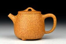 Chinese Yixing Zisha  Handmade Tall Shipiao Teapot,Golden Gaowen Duan Ni,240cc.