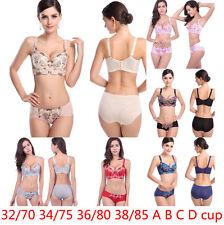 Sexy Push Up Bra underwear Sets Crochet Gather Lingerie 32 34 36 38 A B C D cup