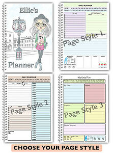 A5 PERSONALISED DAILY PLANNER/ ORGANISER / SCHEDULE/ TO DO LIST PLANNER/ DIARY