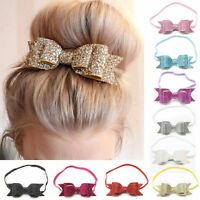 Kids Girls Baby Headband Bow Flower Hair Band Accessories Headwear Elastic