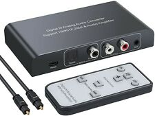 Bluetooth DAC Converter 192kHz Digital To Analog Stereo Audio RCA Adapter Amp