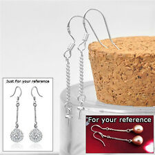 50PCS 925 Silver Jewelry Making Findings Line Hook Earwire Componets For Beads