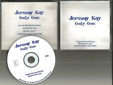 JEREMY KAY Only One ULTRA RARE USA 2000 PROMO Radio DJ CD Single MINT