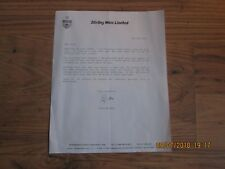 8/5/1993 LETTER FROM STIRLING ROSS