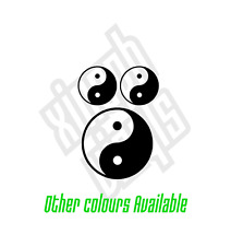 Yin Yang Symbol vinyl stickers decals window laptop ipad set choose colour