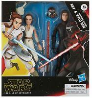 Star Wars Rey & Kylo Ren Action Figure Set One Size Black/white