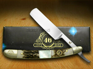 Frost Family Razor Knife 40th Anniv Deer Stag & Mother of Pearl 1/600 40-148SMS