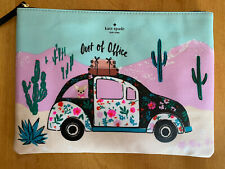 KATE SPADE NEW HORIZONS OUT OF OFFICE GIA ZIP COSMETIC CASE CLUTCH NWT $69
