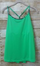 Zella new yoga top XL green built bra elastic thin strap free ship no padding