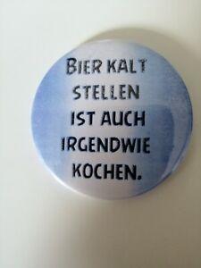 """FLASCHENÖFFNER  59 mm """" Bier kalt.... """" rund mit Magnet"""