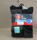 New Hanes Men's 6 Pairs Casual Lightweight ComfortBlend Crew Socks Shoe 6-12