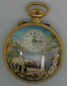 VTG Charles REUGE Gold Plated Musical Pocket watch. Cal: 5261. Excellent Conditi