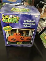 #20712 8ft Gemmy Airblown Inflatable Halloween Stacked 4 Pumpkins