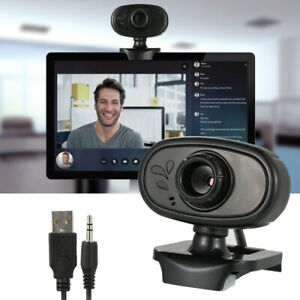 Webcam USB Web Camera With Microphone For Laptop PC Desktop Computer UK