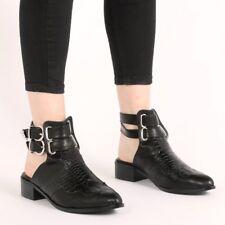 Public Desire Tegan Western Style Mule Boots In Black Croc UK 8 EU 41 JS48 98