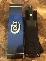 "Colt Tactical Bayonet Style Dagger 10 3/4"" W/SH Leg Boot & Shoulder Strap CT420"