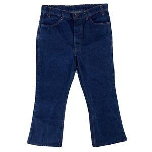 Levi's Levis 646 Denim Pants Bell-Bottom Boot Orange Tab Dark actual Size 34X26