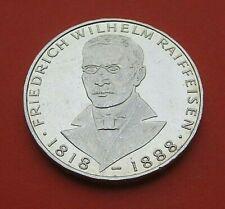 """5 DEUTSCHE MARK 1968 J   """"   FRIEDRICH  WILHELM  RAIFFEISEN  .1818 / 1888  """""""