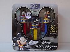 Coffret en métal 3 PEZ DISNEY - 80 ANS - Vintage - Mickey - Poster  NEUF