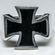 Iron Cross Maltese 925 silver Ring Celtic Biker Gothic Schwartz feeanddave