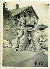 Japan Army old photo Imperial 1942 Pacific War Military broken Fence 2Soldier