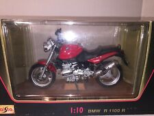 Bmw Ruby-Red R1100R 1:10 Scale, Special Edition Diecast Metal Plastic Motorcycle