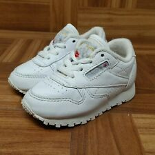 e0656bb6ecf Reebok Classic Leather (Toddler Size 4 C) Athletic Sneaker Shoes White
