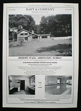 BISHOPS WALK SWEDISH CHALET HOUSE ADDINGTON SURREY ESTATE AGENT ADVERT 1967