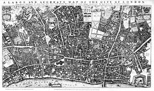 A0 Antique vintage wall canvas London UK  old large decor poster new  1677
