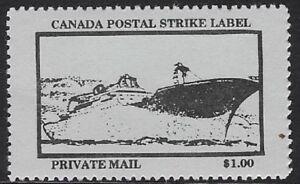 Canada Cinderella: cc5160 Canada Postal Strike 1987 - $1.00 blue MNH - dw817c