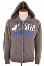 HOLLISTER Mens Hoodie Sweater Small Grey Cotton  FO07