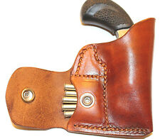 Pocket holster with ammo pouch for NAA PUG - Leather tan
