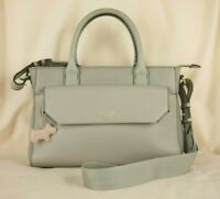 Radley Chelsea Multiway Cross Body Bag or Grab Bag Light Grey Leather Used