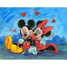 Round 5D Diamond Mosaic Embroidery Mickey Mouse Minnie Stitch Kits Decor Gifts