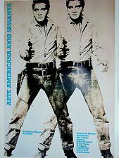 Andy Warhol•Elvis•Arte Americana 1987•Venice Exhibition Poster 27x37•Presley