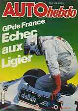 AUTO HEBDO n°222 du 3 Juillet 1980 GP FRANCE BMW 745i