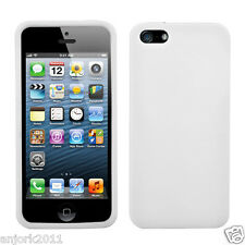 APPLE iPHONE 5 SOFT SILICONE SKIN RUBBER GEL COVER CASE ACCESSORY WHITE