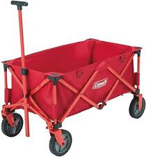 Coleman Outdoor Rugged Folding Wagon Camping Cart 85KG Capacity Red
