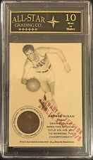 George Mikan Authenticated Ink Coin Card #3/5 Made Graded 10 Los Angeles Lakers