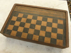 ancien jeu de Backgammon Baggamon dames en BOIS
