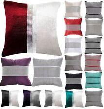 Luxurious Chenille Full Diamante Sofa Cushion Covers 18x18 Inch Cushion Cases