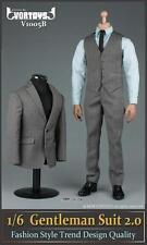"VORTOYS 1/6 Scale Grey Gentleman Suit 2.0 V1005B Fit 12"" Male Figure Model"